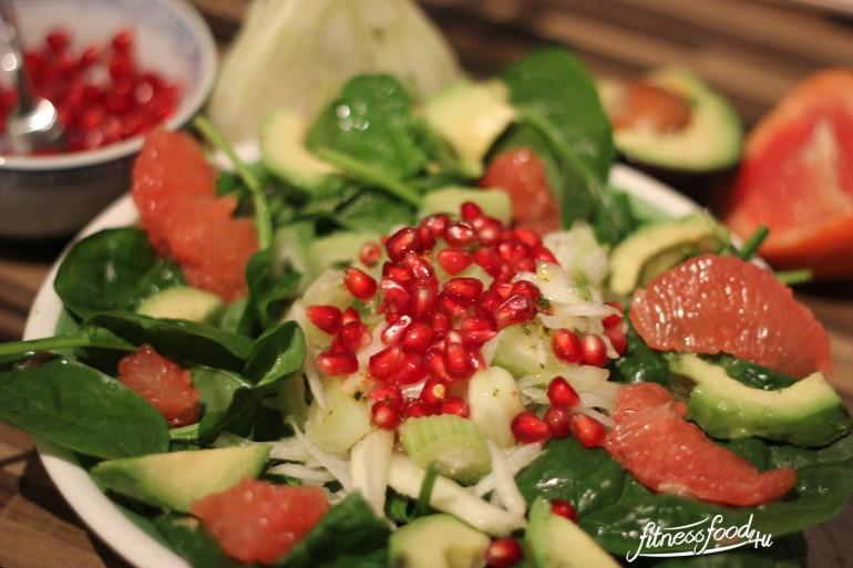Fenchel-Granatapfel-Mango-Grapefruit-salat