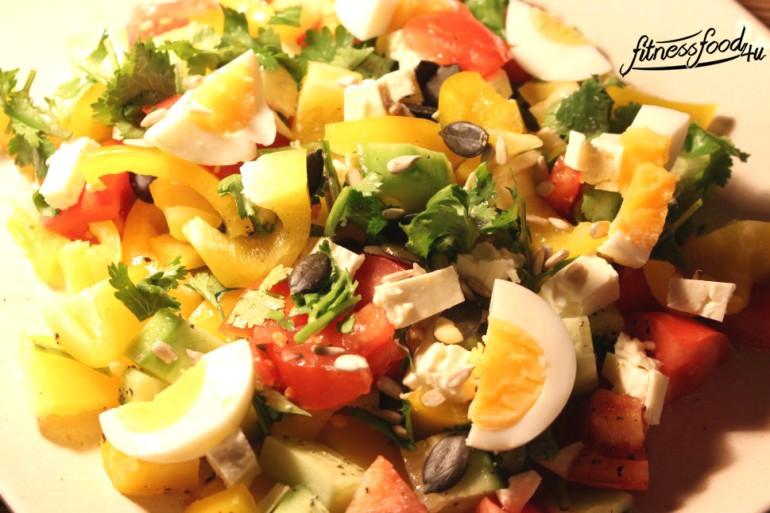 salat mit ei und feta